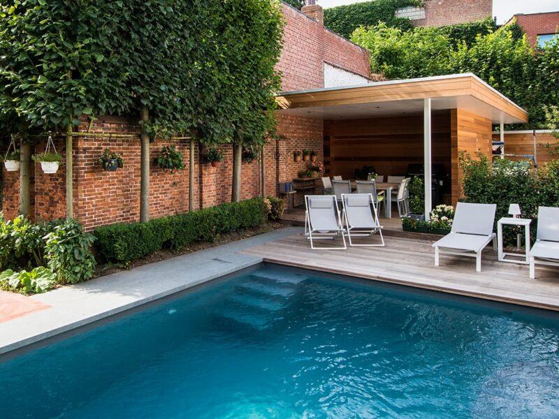 Foto's zwembad in tuin